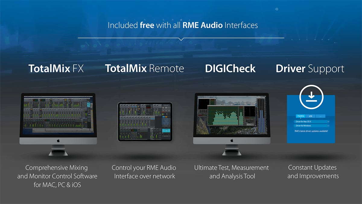 RME Fireface UCX II - Included Software - TotalMix FX, TotalMix Remote & DIGICheck