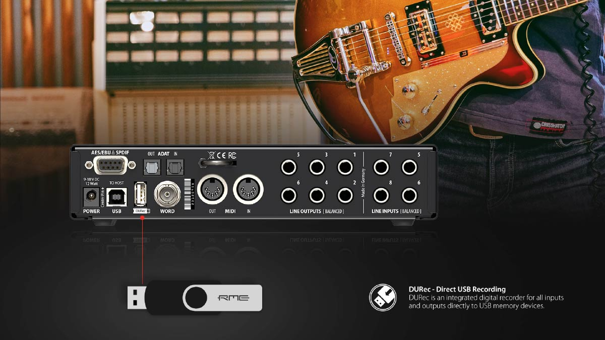 RME DURec - Direct to USB Recording with the Fireface UCX II