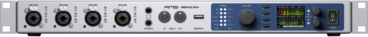 RME Fireface UFX+ Front Panel