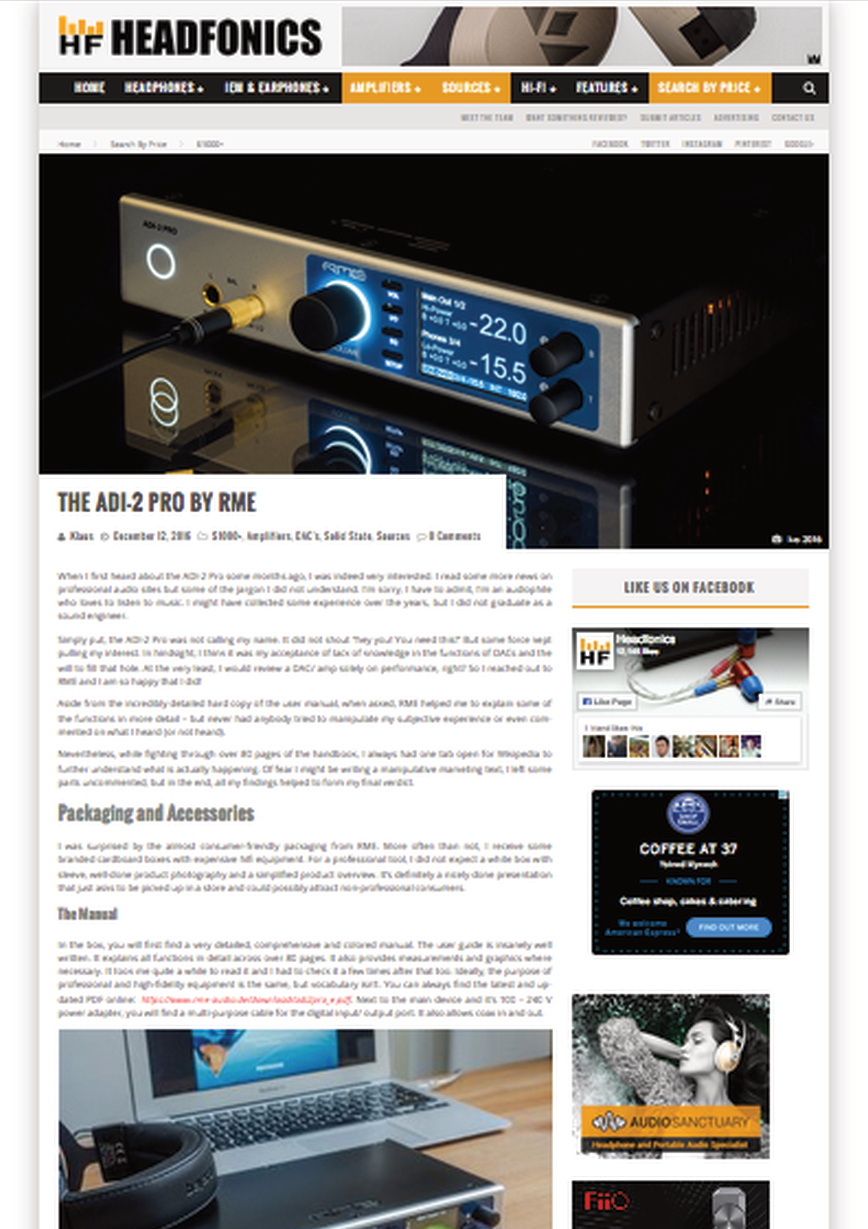 RME ADI-2 Pro Review By Headfonics