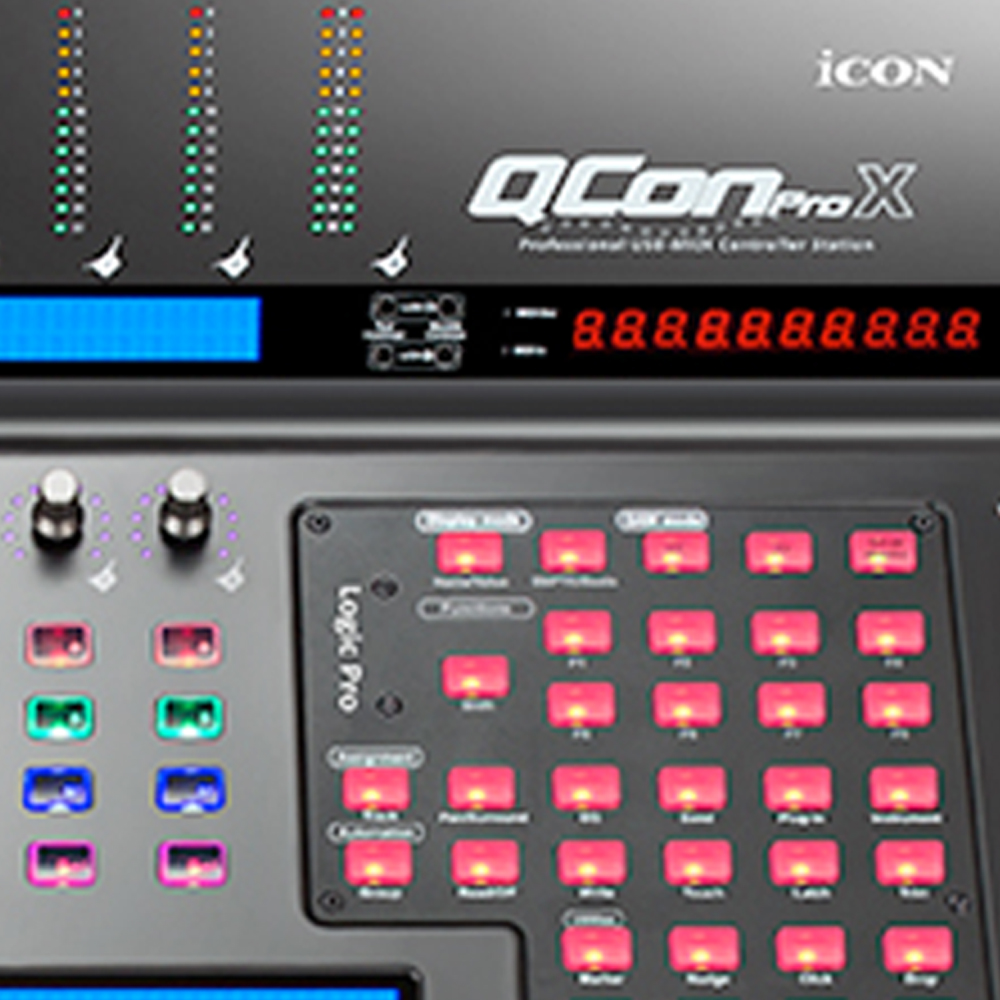 Icon Qcon Pro X Midi Audio Daw Control Surface Motorised
