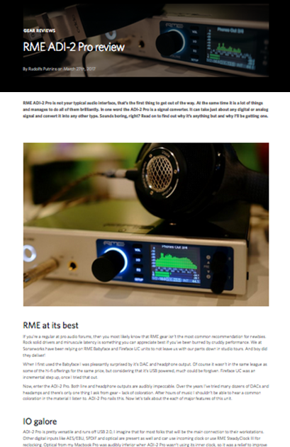 RME ADI-2 Pro Review By Sonarworks