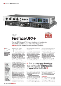 RME Fireface UFX+ Review by MusicTech